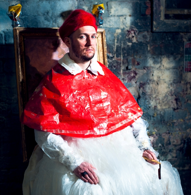 Neil McCormack as Velazquez's Pope (photo: Tommy Ga-Ken Wan, design: Ali Maclaurin)
